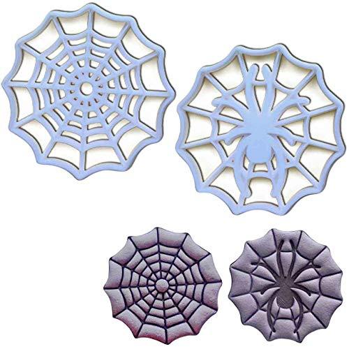 Bakerlogy 3er Set Spinnweben Ausstechformen (Formen: Spinnweben und Spinnweben mit Spinne), 2 Teile
