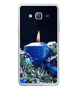 PrintVisa Designer Back Case Cover for Samsung Galaxy On 5 (Dark background blue candle smoky)