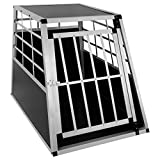 EUGAD 0042HT Cage de Chien en Aluminium Design avec 1 Porte,Boîte pour Transport de Chien Boîte de Voyage,Noir