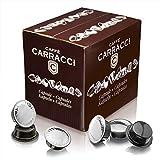 Caffè Carracci, Capsule Compatibili Lavazza A Modo Mio, Milano 100% Arabica - totale 100 capsule