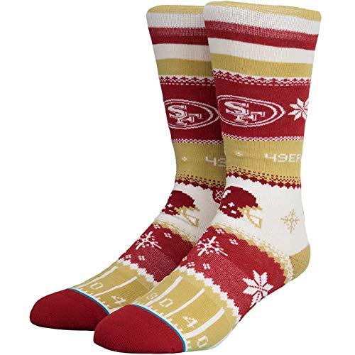 Stance NFL Holiday Sweater Socken (Gr. 43-46 (L), San Francisco 49ers)