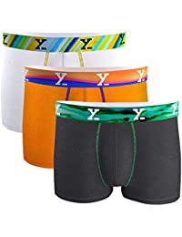 [Sponsored]XY XX Men's Multi Color Micro Modal Trunk (Pack Of 3)