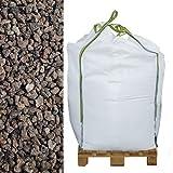 Hamann Lava-Mulch Rot 16-32 mm Big Bag 600 l - für Rasengittersteine, Pflanzsteine & Blumenkübel eingesetzt