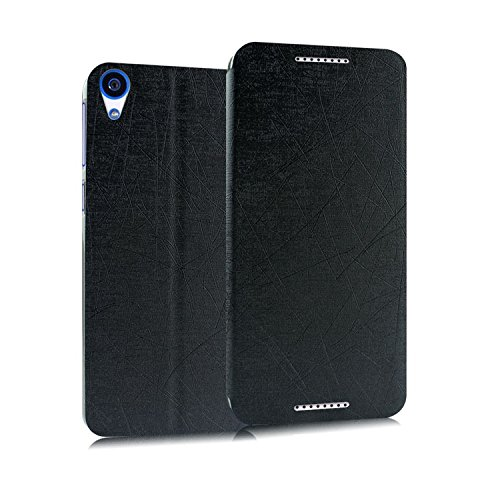 Heartly Premium PU Leather Flip Stand Case For HTC Desire 820 (Black)