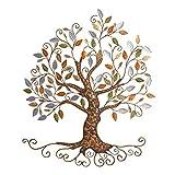 YJ HOME Tree of Life, Metall Baum Art, Gold Tree Home Decor