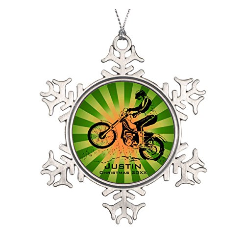Daily Lady Dirt Bike Rider Ornament -