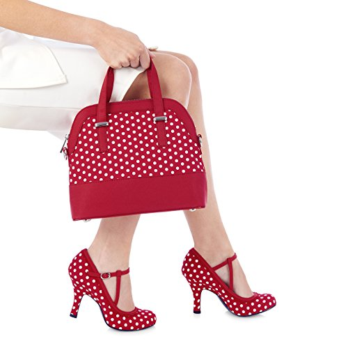 Ruby Shoo , Mary Janes pour femme rouge/blanc