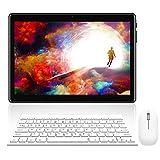 4G Tablette Tactile 10 Pouces, WiFi Tablettes Android 8.0 avec 3 Go de RAM et 32 Go ROM, 8000mAH Quad Core Dual SIM, 5MP+8MP HD Caméra Tablettes PC Portable Pas Cher Bluetooth S60 Plus(Noir)