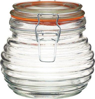 2 Kitchen Craft Beehive Clip-Top Honey Pots, 650ml Test