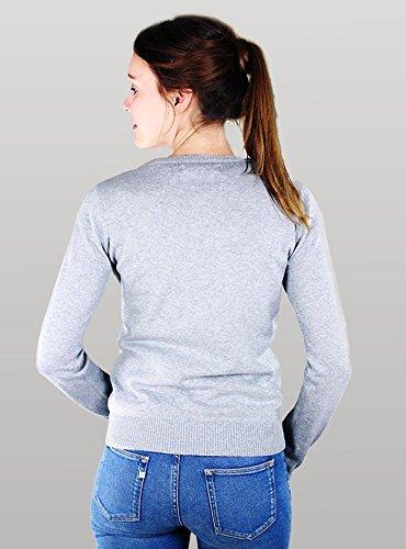 MELAWEAR Damen Cardigan aus 100% Bio-Baumwolle - Fairtrade, GOTS zertifiziert Grau-Melange