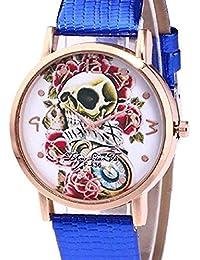 66458bf0fd6f Relojes de Calavera para Mujer Relojes para Mujer Relojes de Pulsera únicos  de