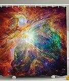 PETGOOD Duschvorhang Universum Abstrakt Nebel Galaxy Chakra Unendlichkeit Psychedelisch-Fotografie-Druck Bunte viele schöne Duschvorhänge zur Auswahl, hochwertige Qualität, Wasserdicht, Anti-Schimmel-Effekt 180 x 200 cm