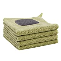 Tubayia Pack of 4 Microfibre Cleaning Cloth Cleaning Cloths for Home Kitchen