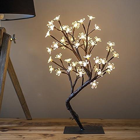 Salcar 45cm cerise LED / lumière arbre, 48 lumières LED,