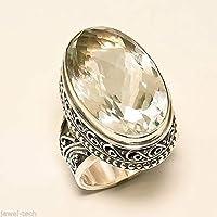 Citrin Silber Ring 925 massiv Sterling Silber handgefertigte Schmuck Größe 14 bis 22 DE