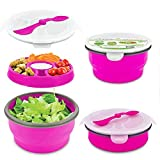Best Smart Planet Lunch Boxes - Smart Planet - Silicone Collapsible Eco Salad Bowl Review