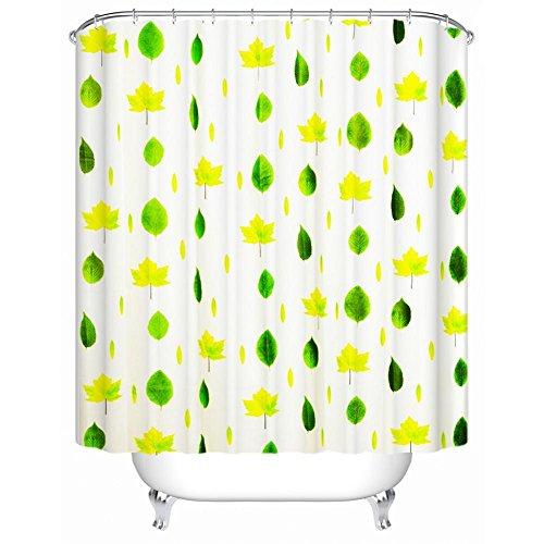 1/pc Umwelt groß Größe Druck Duschvorhang Wasserdicht Verdickung Badezimmer Hängende Vorhänge WC 210cmx200cm (82.67x78.74-Zoll) , leaves (upgrade) 300*200+ hook -