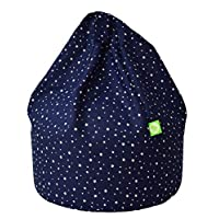 Cotton Navy Stars Bean Bag With Beans Child Size By Bean Lazy