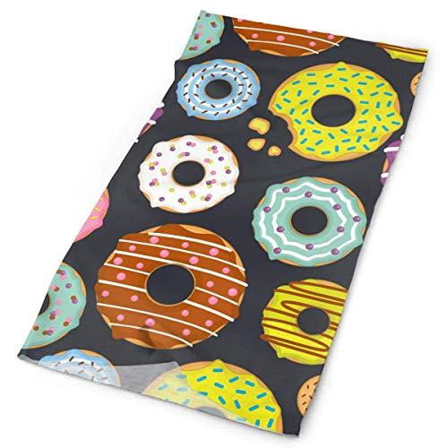 Jolly2T Donut Sweet Dessert Bandanna Headwear Neck Gaiters Variety Scarf Wrap Grecian Dessert