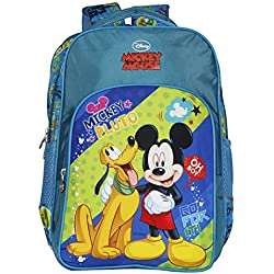 Disney School Bag For Boys & Girls 07+ Years Mickey Mouse Pluto 13 (L) Green (Dm-0054)