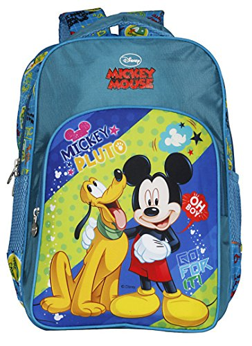 Mickey Mouse Polyester 13Liters Green School Backpack