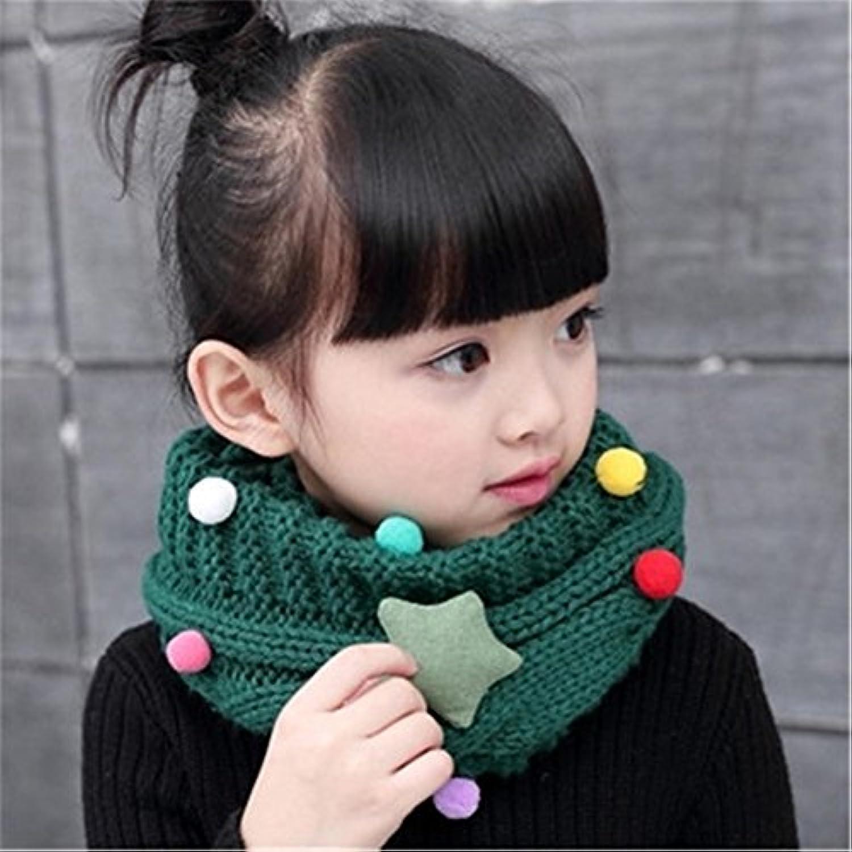 /Écharpe mignon pour enfant et b/éb/é Laine tricot/ée Tour de cou Foulard /Étoile Collier chaud dautomne et dhiver pour 4-14 Ans Enfants GXY