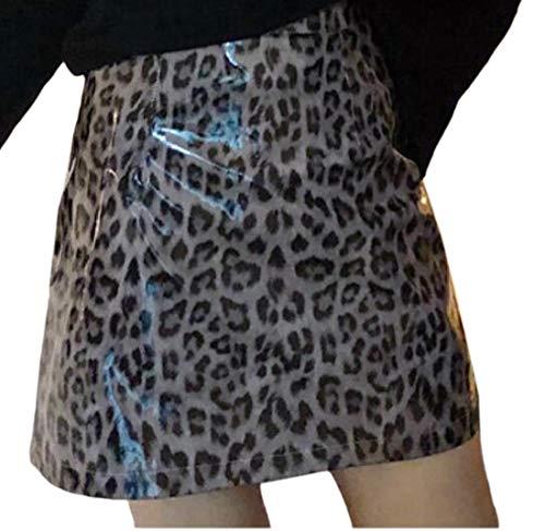 Minifalda de Piel con Estampado de Leopardo para Mujer 2. 44