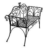 HLC 133*49*90 CM Metall Gartenbank Ruhebank doppelte Sitz mit Rücken aus Eisen
