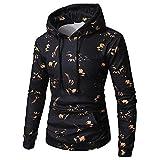 Sweatshirts,SANFASHION Pullover Herren Long Sleeve Printed Hoodie Kapuzenpullover Top Tee Outwear Bluse