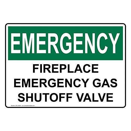 BDTS Señal metálica de Emergencia para Chimenea de Emergencia con válvula de Cierre de Gas, 20 x...