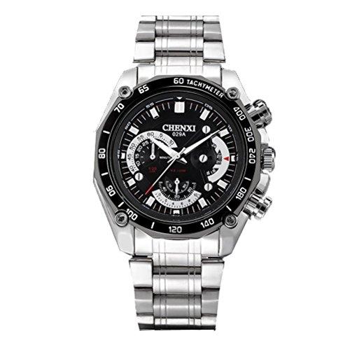 CHENXI Uhr Herren wasserdicht Edelstahl Armband Quarz Uhren