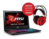 MSI GS60-6QC16H11 0016H8-SKU1 39,6 cm (15,6 Zoll) Notebook + MSI Steelseries Siberia V2 Headset