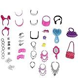40 Stk Mix Puppenzubehör Schmuck Zubehör Accessoires Schuhe Taschen für Barbie-Puppen Kleidung Zufällige Stil