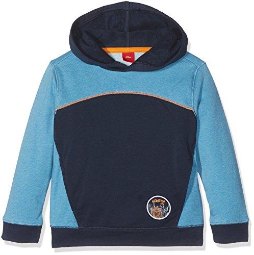 s.Oliver Jungen Sweatshirt Langarm, Blau (Blue Green Melange 64W0), 128 (Herstellergröße: 128/134) (Jungen Pullover Langarm)