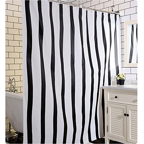 rideau de douche Rideaux de douche, rayures verticales PEVA tissu Salle de bain Imperméable Eviter la moisissure Rideau de douche plus épais ( taille : 180*180CM )