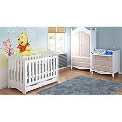 Cunas para bebés 120x60x95 con cajones