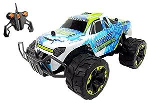 Dickie Toys 201119233 vehículo de tierra por radio control (RC) Coche Motor eléctrico 1:16 - Vehículos de tierra por radio control (RC) (Coche, Motor eléctrico, 1:16, Listo para usar, Azul, Blanco, Cloruro de polivinilo (PVC))