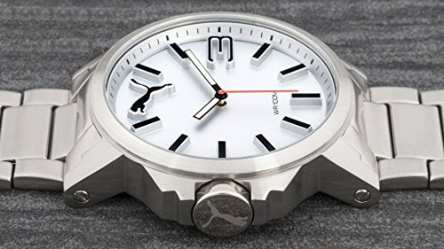 ff3028ca8 Puma Ultrasize Metal – Reloj análogico de cuarzo con correa de acero ...