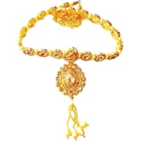 Project Luxe Beautiful Handcrafted Gold Plated Kamarband for Women and Girls - Waist Hip Belt/Chain