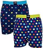 Happy Shorts 2 Webboxer Herren Boxer Motiv Boxershorts Design 21, Grösse:XL - 7-54, Präzise Farbe:Design 21