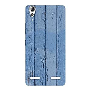 Stylish Blue Wood Wall Print Back Case Cover for Lenovo A6000 Plus