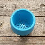 SEVERN Bande Dessinée en Plastique Pots De Fleurs Plante Automatique Aquatique Bassin Mini Pot De Fleurs Paresseux 4Pcs 7Cm X 6.5Cm Bleu