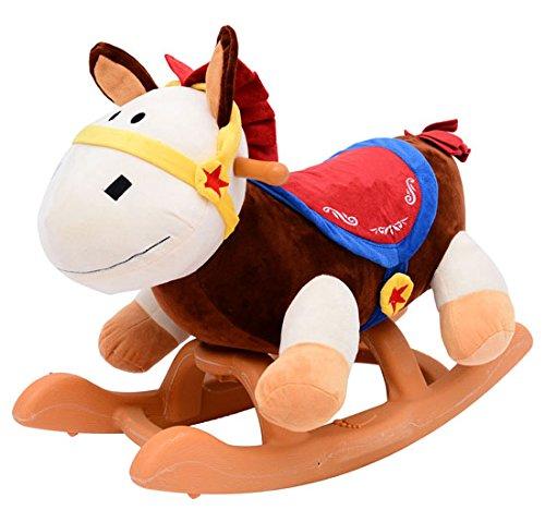 Homcom Jouet à bascule cheval à bascule modèle âne 61L x 31l...