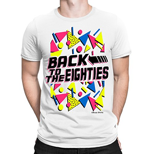 Back To The Eighties Mens Fancy Dress T-Shirt