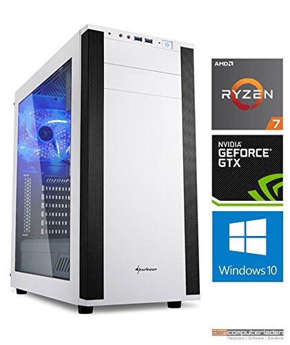 Gaming PC M25W AMD, Ryzen 7-1700X 8x3.4 GHz, 1TB HDD, 32GB DDR4, GTX1080Ti 11GB, Windows 10 dercomputerladen
