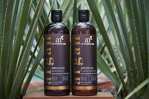 ArtNaturals Moroccan Argan Oil Hair Loss Shampoo & Conditioner Set – Hair Regrowth (2x 473 ml) Sulfate Free- Treatment for Hair Loss, Thinning Hair & Hair Growth, Men & Women- Made W/ Organic Ingredients