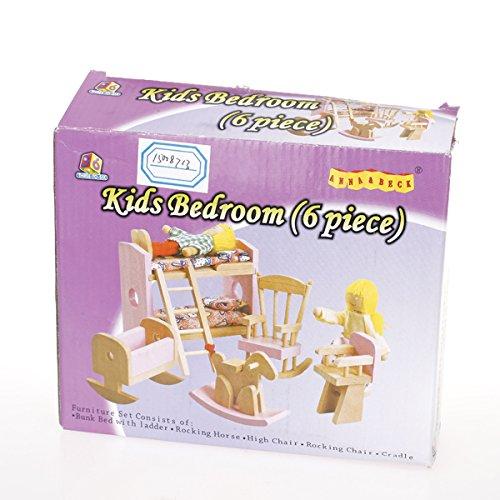 Sharplace Casa Delle Bambole Mobilio Camera Accessori Set Bambini Giocattolo in Legno