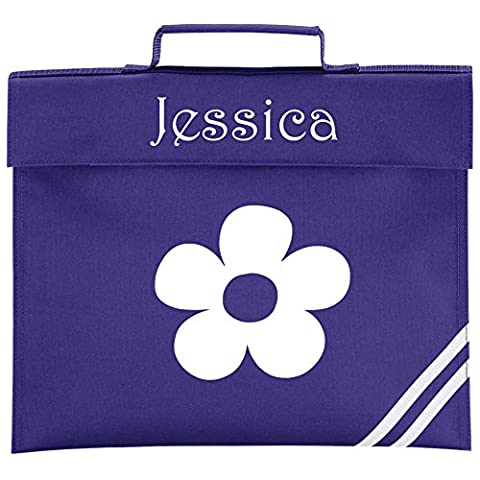 Personalised FLOWER School Book Bag - *Choice of colours* By Mayzie Designs®