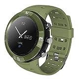 Zerone Fitness Tracker Reloj Deportivo GPS al Aire Libre Smartwatch Pulsera Impermeable Pedometer para Monitor de sueño Condición de Salud Smartwatch(Verde)