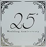 10Prelude Metallic Silber und Weiß 25. Silber Hochzeit Jahrestag Einladung Karten